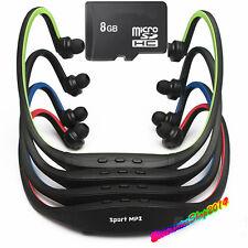 Lettore MP3 Sport Palestra Corsa cuffie senza Fili + MICRO SD 8GB