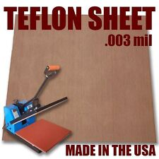 "Teflon Cover Sheet 16""X16"" 3mm for Transfer Paper Iron-On and Heat Press"
