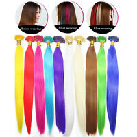 1/10/20pcs x Solid Single Color Synthetic Feather Hair Extensions Salon Home DIY