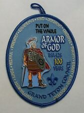 BSA-LDS 100 YEARS PUT ON THE WHOLE ARMOR OF GOD PATCH-BOY SCOUTS