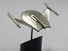 Franklin Mint Sterling Silver Star Trek Romulan Bird Of Prey Stand/Certificate