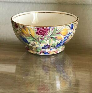 Royal Winton Grimwades Blue Paisley Sugar Bowl Chintz Design 1930/'s Vintage Dinnerware Made in England
