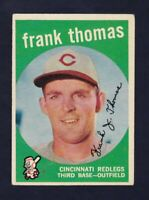 1959 Topps #490 Frank Thomas Pittsburgh Pirates EXMT condition