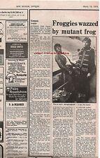 GENESIS Palais Des Sports  Paris concert review1975 UK ARTICLE / clipping