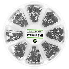 80 Stück Prebuilt Selbstwickler Verdampfer Coil Set 8 in 1 Fertig Coil Superset