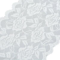 5Yards 15cm White Elastic Lace Trim Ribbon Fabric DIY Decor Crafts Sewing New