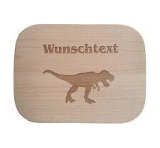 Frühstücksbrettchen nach Wunsch / Holz / Buche / Dinosaurier