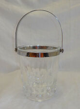 "Cristal d'Arques Ice Bucket Small 5.25"" X 4.5""  Lead Crystal Silverplate Handle"