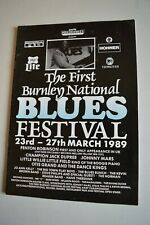 More details for the first burnley national blues festival programme 23rd -27th march 1989 signed