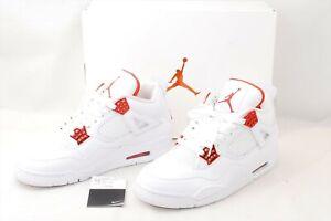 ''Used'' Nike Air Jordan IV 4 Retro Metallic Orange CT8527-118 US 9 From Japan