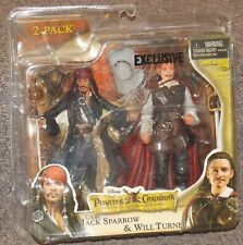 Pirates Of The Caribbean Jack Sparrow & Will Turner 2 Pack Action Figure Set NIP