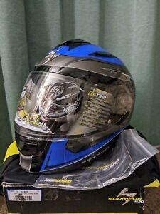 Scorpion Tarmac Blue Black EXO-T510 Helmet DOT Size XS 53-54cm