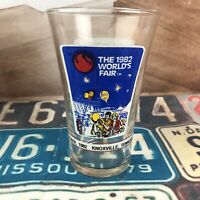 McDonalds Coca Cola Vintage Worlds Fair Drinking Glass 1982 Knoxville Tennessee
