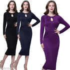 New Vintage 50s 40s Rockabilly Office Work Pencil Wiggle Pinup Party Retro Dress
