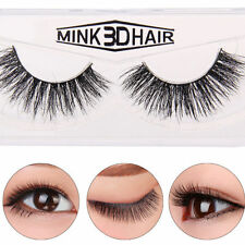 100% Real 3D Mink Soft Long Natural Thick Makeup Eye Lashes False Eyelashes Hot