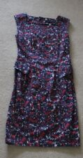 French Connection Blue & Red waisted Straight shift sleeveless dress size 10