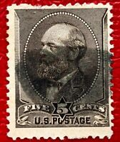 1882 US Stamps SC#205 5c James Used Well Centered