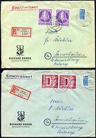 BERLIN 1953 105 MEHRFACHFRANKATUR, 111 ebenso SELTEN 470€(Z7664