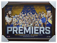2018 West Coast Eagles AFL Premiers Official Print Framed Shuey Kennedy Hurn Yeo
