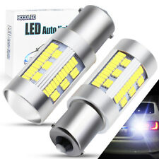 2X 1156 BA15S LED 105 SMD White 3000LM P21W Car Reverse Turn Signal Light Bulbs