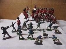 Crescent & Britains England Toy Vintage Metal British Soldiers & Misc Lot  T*