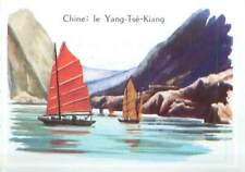 CHINE CHINA FLEUVE RIVER YANGZI JIANG YANG-TSÉ-KIANG CHANG JIANG IMAGE CARD 1963