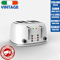 Vintage Electric 4-slice Toaster White Stainless Steel 1650W | Not Delonghi