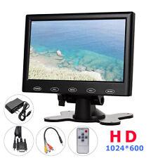 "Mini 7"" LCD CCTV Monitor PC Screen AV/RCA/VGA/HDMI 1080p for DSLR Raspberry US"