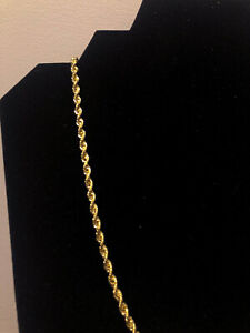 BRAND NEW 10KT GOLD Italian Made ROPE Chain, REAL GOLD, 24 INCHES 3.3MM THICK.
