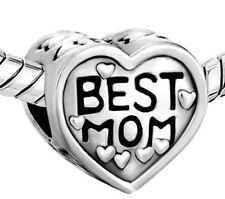 Mejor Mamá Corazón Joyería Moda de bisutería de plata 4 Pulsera de abalorios