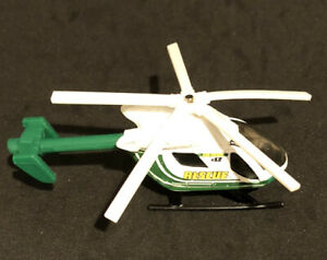 Matchbox Airblade 2009 Yellow Rescue Skybusters Helicopter Mattel