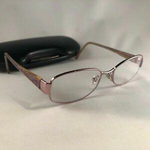Salvatore Ferragamo 1701 611 Women Eyeglass Frame 51-17-135 Rose Gold Case Italy