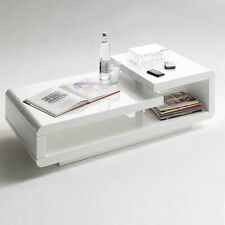 Saffron Coffee Table Rectangular In White High Gloss And Chrome