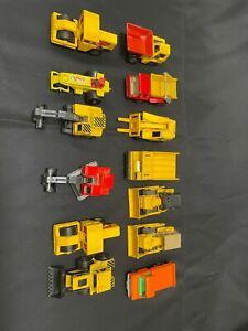 Matchbox construction vehicles