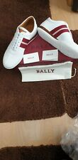 Bally White Calf Perforated Sneakers Size9