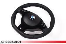 Extremo plano volante de cuero bmw e46 e39 diafragma negro Alcantara multif. con airbag