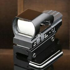 Tactical Holographic Reflex 4 Reticle Red Green Dot Sight Scope 21mm Rail Mount