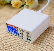 Fast Charging Adapter Socket 6 Port USB 5V/6A Digital Display Wall Charger Q3L1K