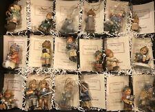 Set of 18 Assorted Goebel Berta Hummel Christmas Ornaments 1999 Excellent Coas