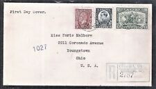 Canada Sc 194-194 First Day Cover Registered to Ohio As Per Scan (Jn11)