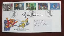 GERRY ANDERSON, double signed FDC - Children's TV COVER - GERRY/ SYLVIA ANDERSON