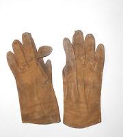 Seltene süße Kinder Handschuhe Wildleder um 1900 uralt Vintage antik für Puppen