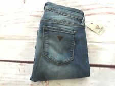 🥀 Guess Power Skinny Low Rise Women's Jeans Extra Stretch Blue Fabric Size 27💕
