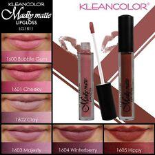 6 PC KLEANCOLOR MADLY MATTE LIPGLOSS - Bold & Vivid Beautiful Colors LG1811