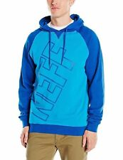 Neff Men's Corporate Pullover Hoodie Blue  Streetwear Hooded Clothing Apparel