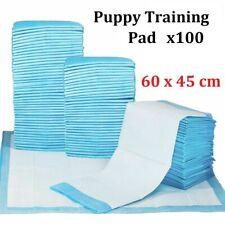 100 X LARGE PUPPY TRAINING PADS TOILET PEE WEE MATS PET DOG CAT 60X45CM UK