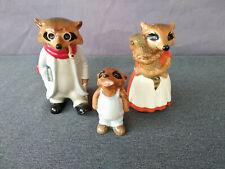 Vintage 1981 Adorable Goebel Ringtale Raccoons Porcelain Figurines - Set of 3