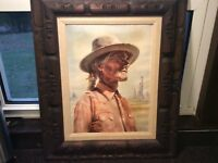 Heiner Grimm Southwest Native American Portrait 1960s Free Shipping