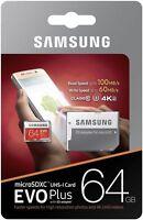 Samsung 64gb MICRO-SD EVO Plus Clase 10 uhs-1 U3 tarjeta de memoria
