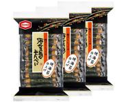 Kameda NORIMAKI-SENBEI Rice Cracker with Nori Seaweed  Snack x3sets Japan